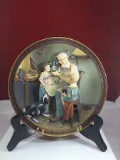 "Norman Rockwell ""The Toy Maker"" 3D Centennial Collection Plate with Coa"