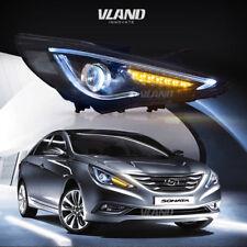 2011-2014 HYUNDAI SONATA HEADLIGHTS NEW DESIGN LED DRL HEAD LAMP CUSTOM ASSEMBLY