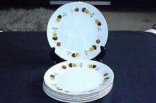 Vintage Autumn Leaf Design Side Tea Plates x 6 by H. Aynsley & Co. Ltd