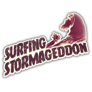 surfing stormageddon STICKER surfing 150mm x 70mm