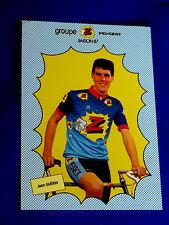 """belle carte pub CYCLISME CYCLISTE JEAN GUERIN GROUPE PEUGEOT """" Z """" SAISON 1987"""
