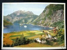Norway~1962 Geiranger~Tourist Ships in Harbor~photo pc