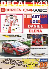 DECAL 1/43 CITROEN C4 WRC S.LOEB R. DEUTSCHLAND 2007 WINNER (07)