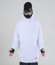 Men's NM4 oversized Hoodie Extra Tall Snowboard Ski Sweater white