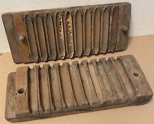 Antique Cigar Press Mold 10 DUREX wooden vintage tobacco smoking wood factory