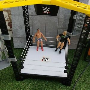 WWE Tough Talkers Championship Takedown Ring With Working Sounds & Figures