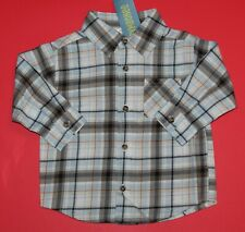 12 18 Nwt Gymboree Whale Watching Blue Plaid Button Up Shirt Top Boys