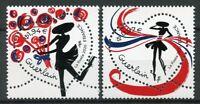 France Art Stamps 2020 MNH Guerlain Hearts Flowers Valentines 2v Set