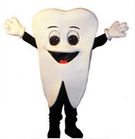 Advertising Tooth Mascot Dentists Costume Cosplay Adult Party Fancy Dress Outfit