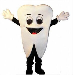 Tooth Fancy Dress Costume Teeth Mouth Dentist Stag Do Outfit M//L Mens Adult