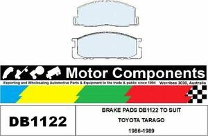 BRAKE PADS DB1122 TO SUIT TOYOTA TARAGO 1986-1989