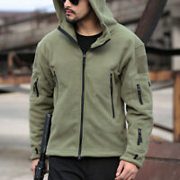 Men Tactical Military Fleece Recon Special Forces Hooded Jacket Coat Casual Hot
