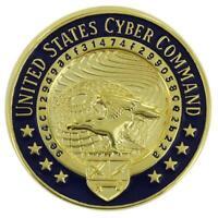 GENUINE U.S. NAVY IDENTIFICATION DRESS BADGE:UNITED STATES CYBER COMMAND