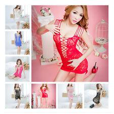 Sexy Women Lady Babydoll Lingerie Fishnet Underwear Sleepwear Dress 017 New