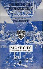 Football Programme>LEICESTER CITY v STOKE CITY Dec 1966
