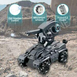 RC Battle Tank Car Crawler Remote Control Toys Rotation Military Gel Blaster