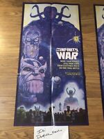 VINTAGE 1992 MARVEL COMICS THE INFINITY WAR THANOS COMIC PROMO POSTER