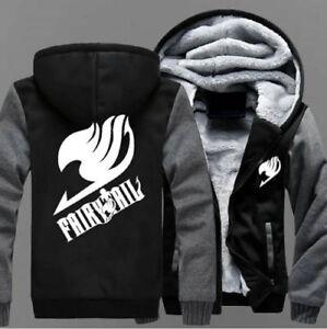 Anime Fairy Tail Luminous Cosplay Hoodie winter Thicken Sweatshirts coat Jacket@