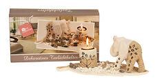 moderne 3 pièces Porte-bougies Set incluant elephants sculpture longueur 30 cm