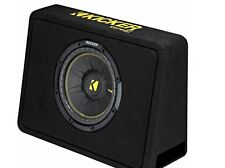 KICKER CompC Loaded Enclosures Single-Voice-Coil 4-Ohm Subwoofer Black 44TCWC104