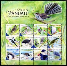 Vanuatu 2012 Vögel Birds Uccelli Oiseaux ZD-Kleinbogen Postfrisch MNH