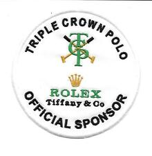 Patch, toppa, TRIPLE CROWN OF POLO + SPONSOR ROLEX COD P097 VELCRO