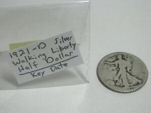 1921-D Key Date Walking Liberty Half Dollar Silver with slipcase
