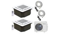 Klimaire 2-Zone 18K BTU 12Kx2 Ceiling Cassette 21 Seer AC Mini Split Heat 15FT
