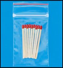 2x3 Plastic Ziplock Poly Zipper 2ml 100 Bags Small Clear Reclosable Zip Lock