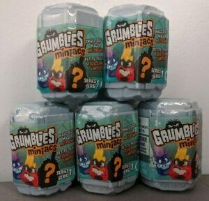 *NEW* Grumblies Miniacs Series - Set of 5 Toy Figures - Free Same Day Shipping