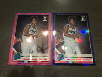 Terance Mann 2019-20 Panini Optic Rookie Lot (2) Pink Pulsar + Purple Holo RC