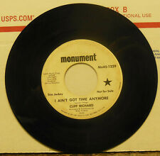 PROMO COPY! Cliff Richard: Aint Got Time Anymore / Monday Comes Too, 45 RPM G