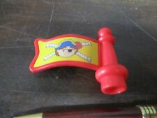 Fisher Price Little People Red Pirate Flag 2 inches Eye Patch Replacement Part