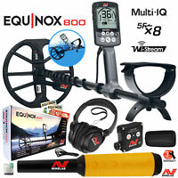 Minelab EQUINOX 800 Multi-IQ Underwater Waterproof Metal Detector & Pro Find 35