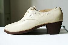 True vintage elegante zapatos caballero imaginería talla 41 beige 70er ungetragen!