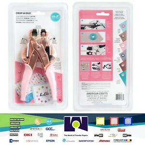 We R Memory Keepers Crop-A-Dile Eyelet and Snap Punch, Rose Gold Handle 60000207