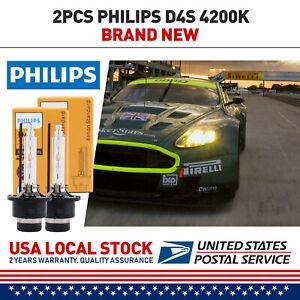 2pcs D4S Xenon HID Headlight Bulbs GENUINE PHILIPS For Lexus Toyota 42402 66440