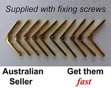 zinc alloy brass colour hinges + fixing screws jewellery box - 5 pairs
