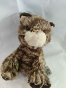 "Russ Whiskers Kitten Mini 5"" Plush Brown Tabby Cat 2480 Stuffed Animal New"