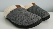 Women's Textured Knit Closed Toe Scuff Slipper Imported Rubber Sole Size: 7M