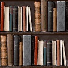 New Grandeco Luxury Realistic Bookshelf Library Wallpaper   POB-33-01-6