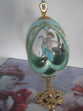 Vintage Faberge Type Hand Decorated Goose Egg Ornament