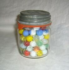 ANTIQUE VINTAGE LOT APPROX 100 VARIOUS SIZE GLASS MARBLES ~ PELTIER, CLEAR, MORE