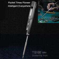 Mini Portable 65W Programmable TS100 Electric Soldering Iron Digital LCD 12-24V