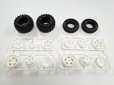 NEW TAMIYA SUPER CHAMP/FIGHTING BUGGY Tires & Wheels Front/ Rear Set TX22