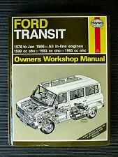 "FORD "" TRANSIT "" 1978 to Jan. 1986 ""   SERVICE and REPAIR MANUAL vgc"