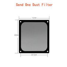 120*120mm Computer Cooler Fan Dust Filter Magnetic Case Cover Magnet Black Frame