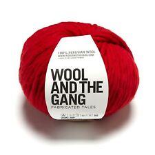 Wool And The Gang Verrückt Sexy Wolle - Lippenstift Rot 200g Super Grob