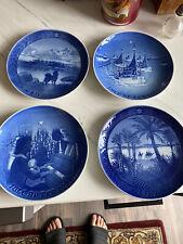 Danish Porcelain Plates - Royal Copenhagen - mint 1966,68,71,72