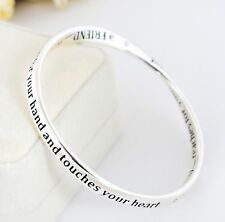 925 Sterling Silver Filled Infinity Friendship Bracelet Bangle Good Quality Gift